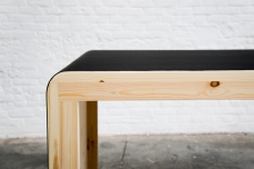 Atelier Antipode black linoleum table