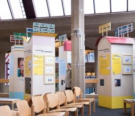 Scenografie voor expo UTOPIA in het UZ in Leuven